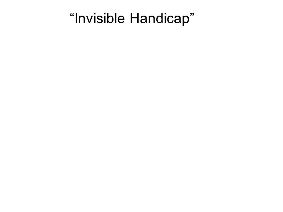 Invisible Handicap