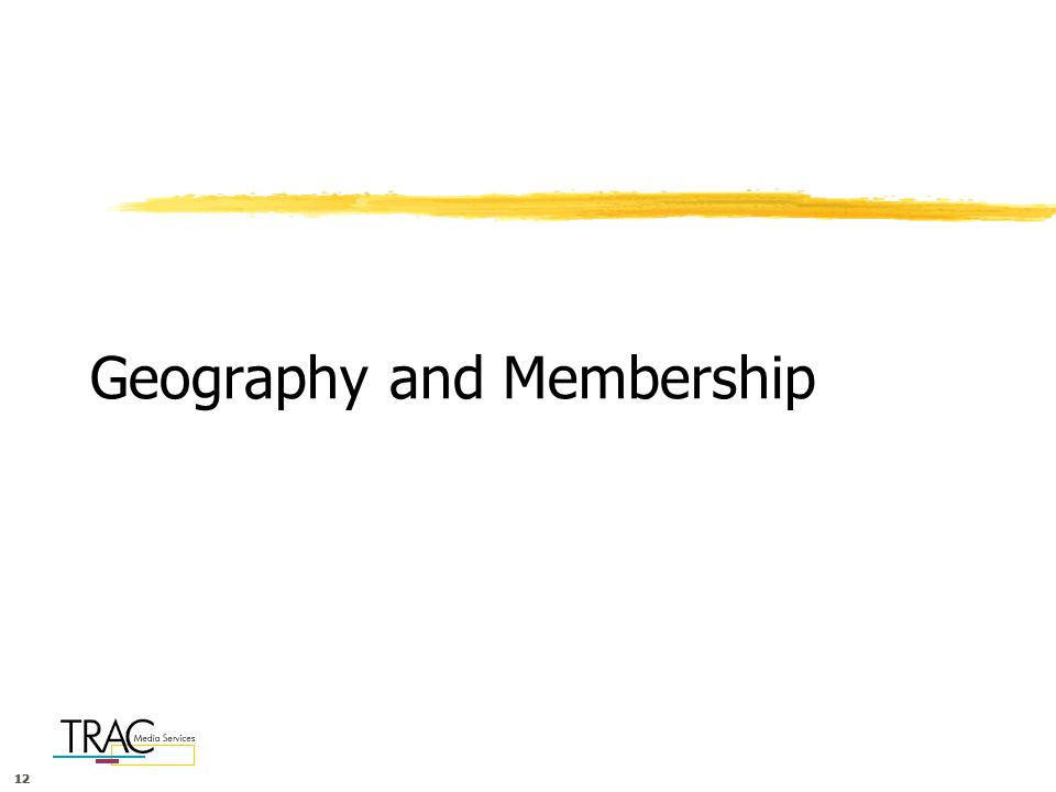 12 Geography and Membership