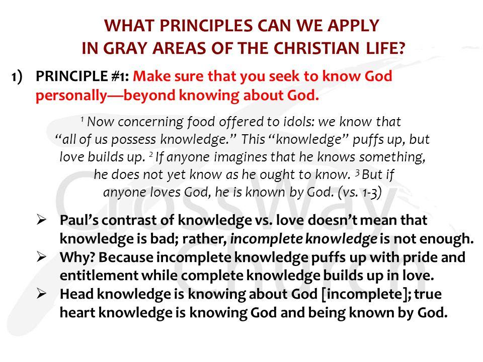 Knowing God vs.