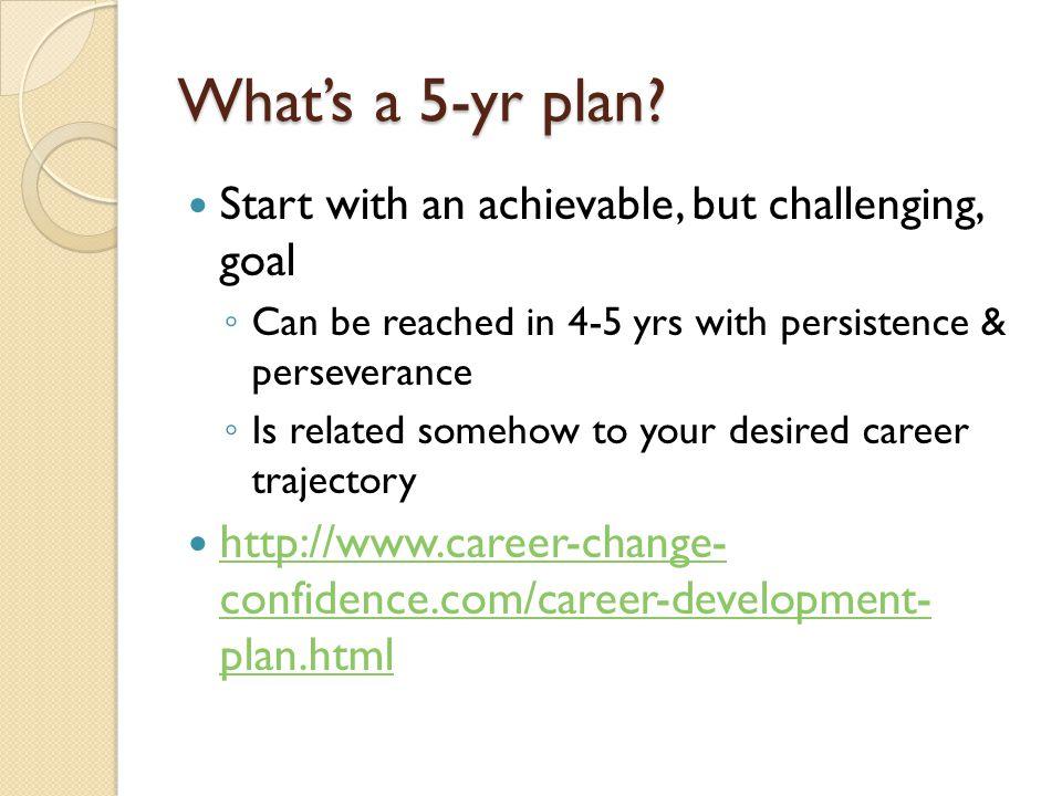 What's a 5-yr plan.