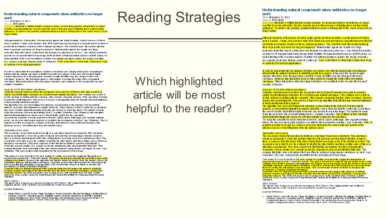 Which highlighted article will be most helpful to the reader?