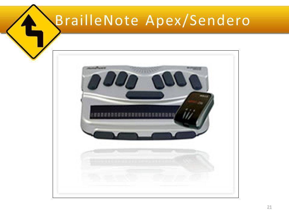 BrailleNote Apex/Sendero 21