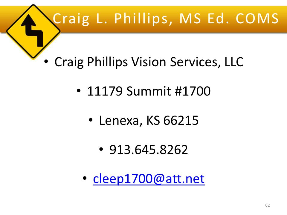 Craig L. Phillips, MS Ed.