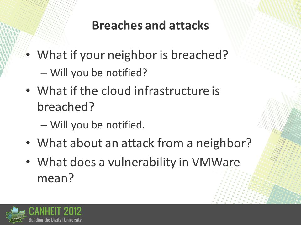 Breaches and attacks