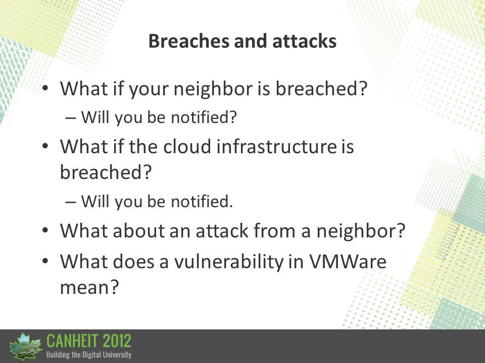 Breaches and attacks