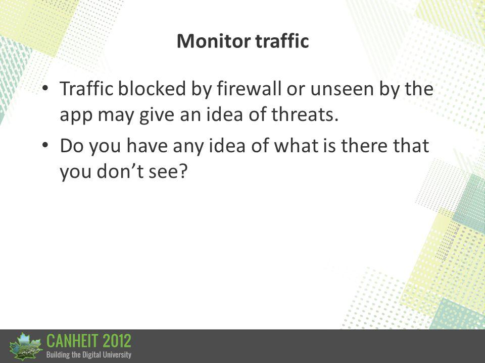 Monitor traffic