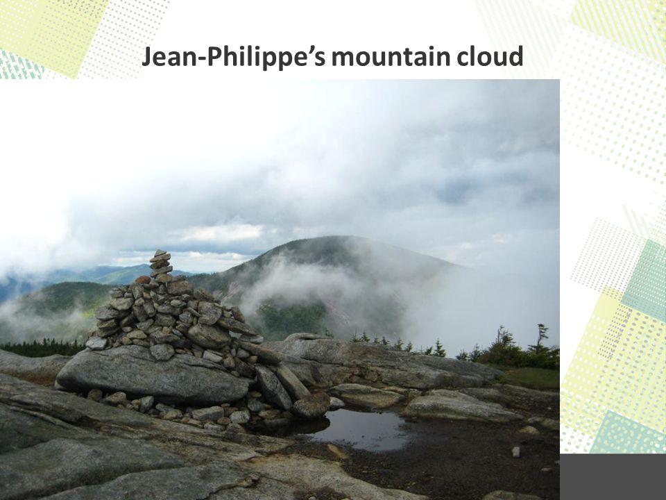 Jean-Philippe's mountain cloud