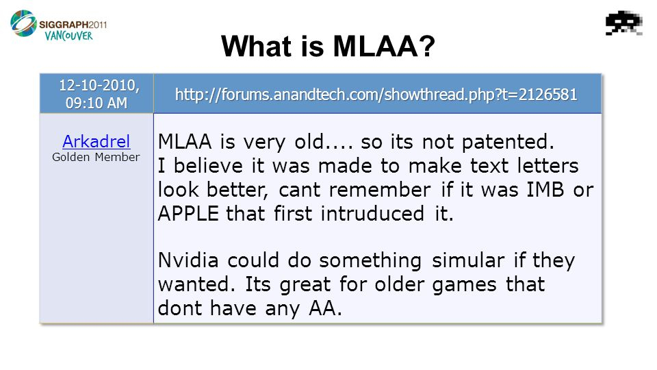 What is MLAA?