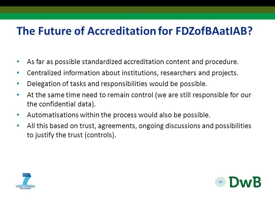 The Future of Accreditation for FDZofBAatIAB.