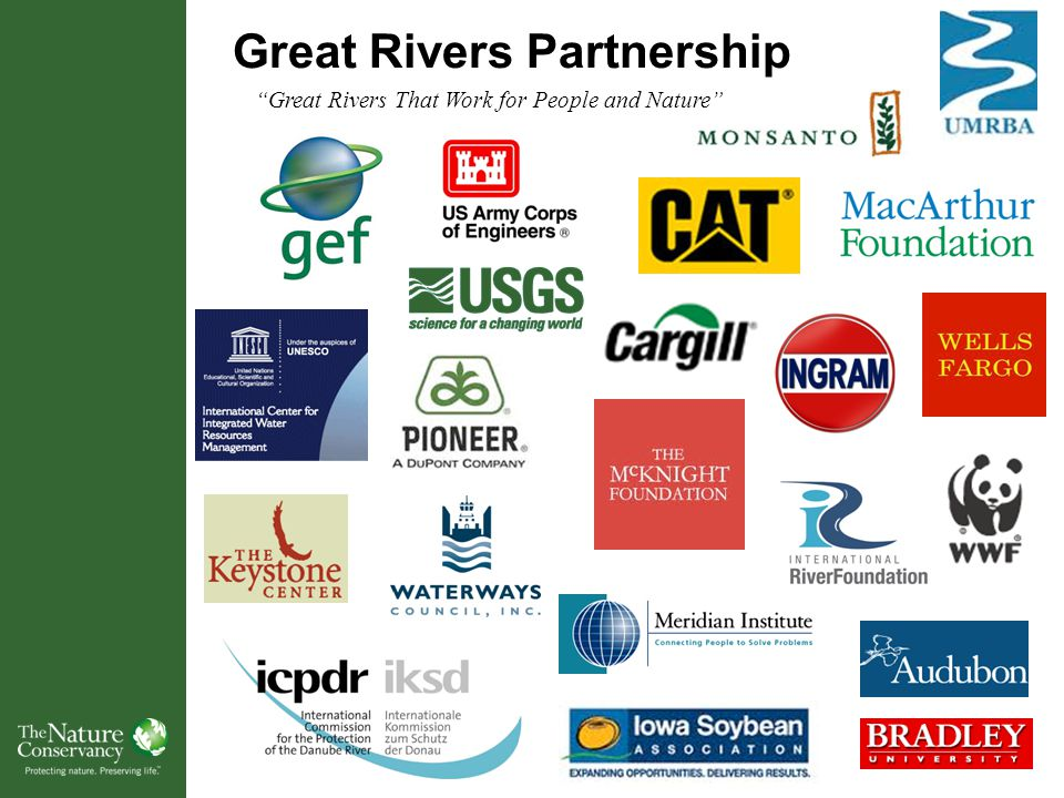Great Rivers Partnership Great Rivers That Work for People and Nature