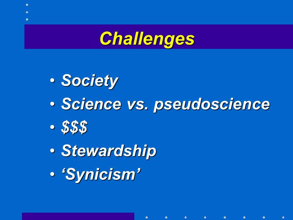 Challenges SocietySociety Science vs. pseudoscienceScience vs.