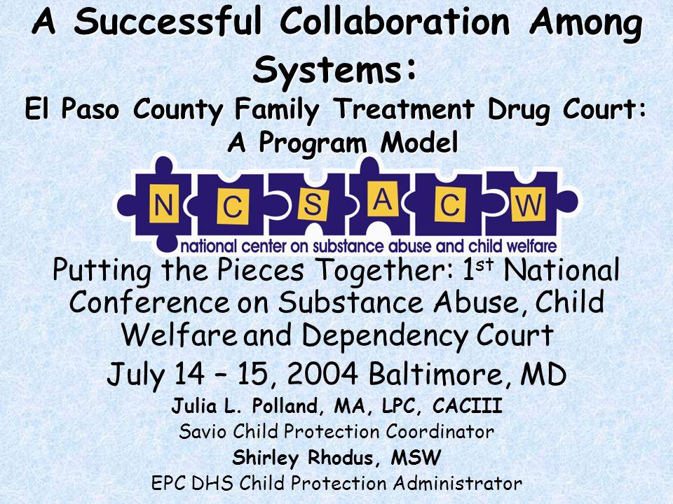 Family Treatment Drug Court 2003 Outcomes Summary