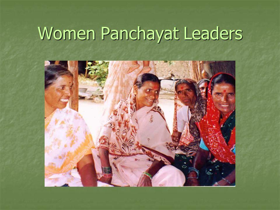 Women Panchayat Leaders