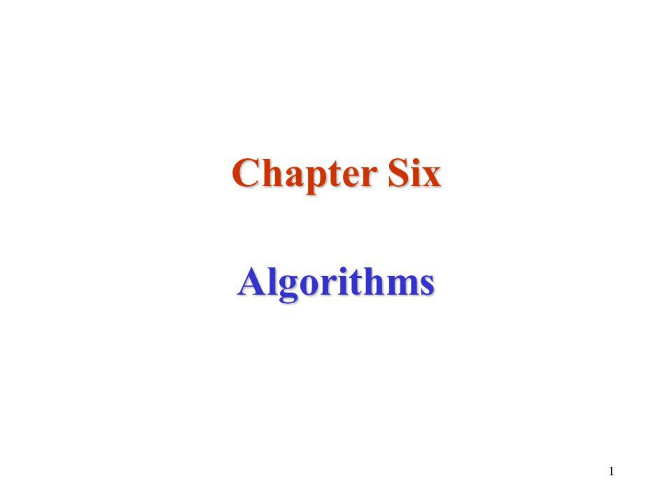 1 Chapter Six Algorithms