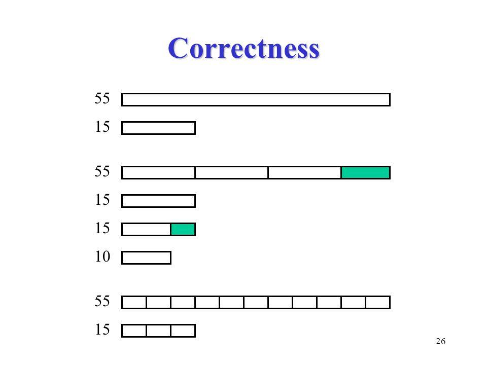 26 Correctness 55 15 55 15 10 55 15