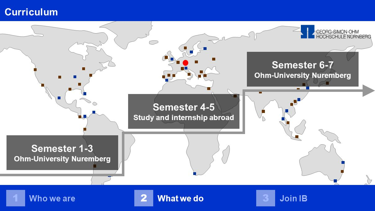 Join IB 123 Who we areWhat we doJoin IB Apply now and join us: www.ohm-university.eu/ib