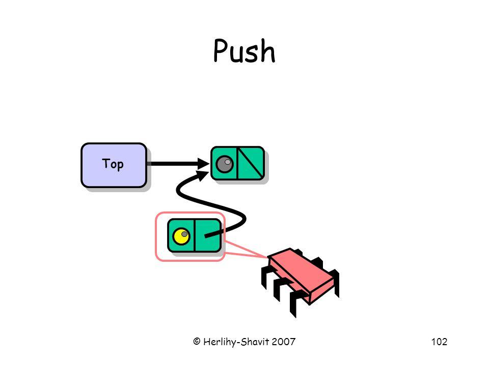 © Herlihy-Shavit 2007102 Push Top
