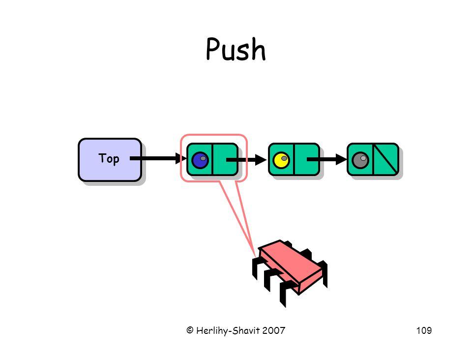 © Herlihy-Shavit 2007109 Push Top