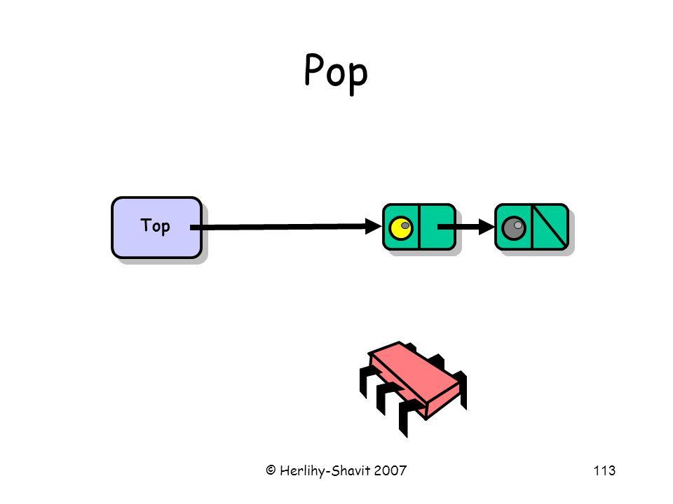 © Herlihy-Shavit 2007113 Pop Top