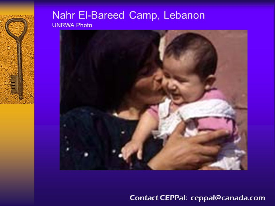 Nahr El-Bareed Camp, Lebanon UNRWA Photo Contact CEPPal: ceppal@canada.com