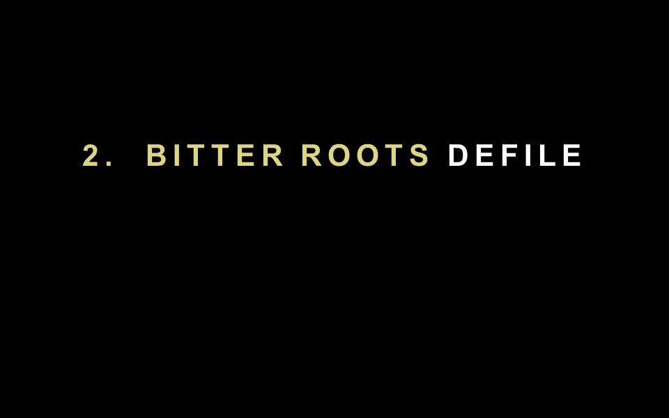 2. BITTER ROOTS DEFILE