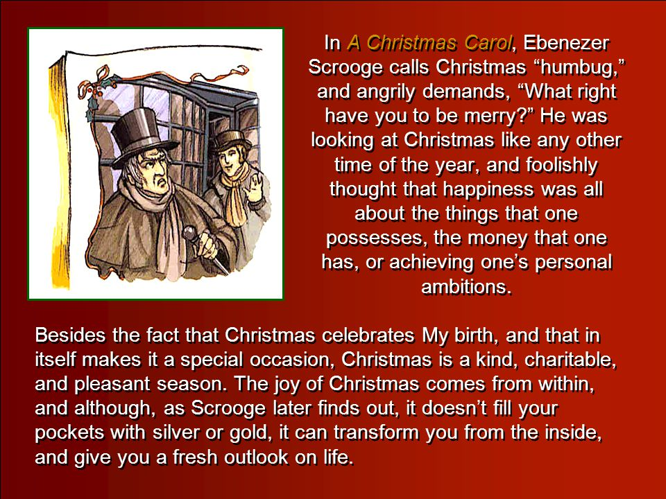A Christmas Message from Jesus A Christmas Message from Jesus Christmas is generally a time of warmth, of happiness, of good will to all men, and of t