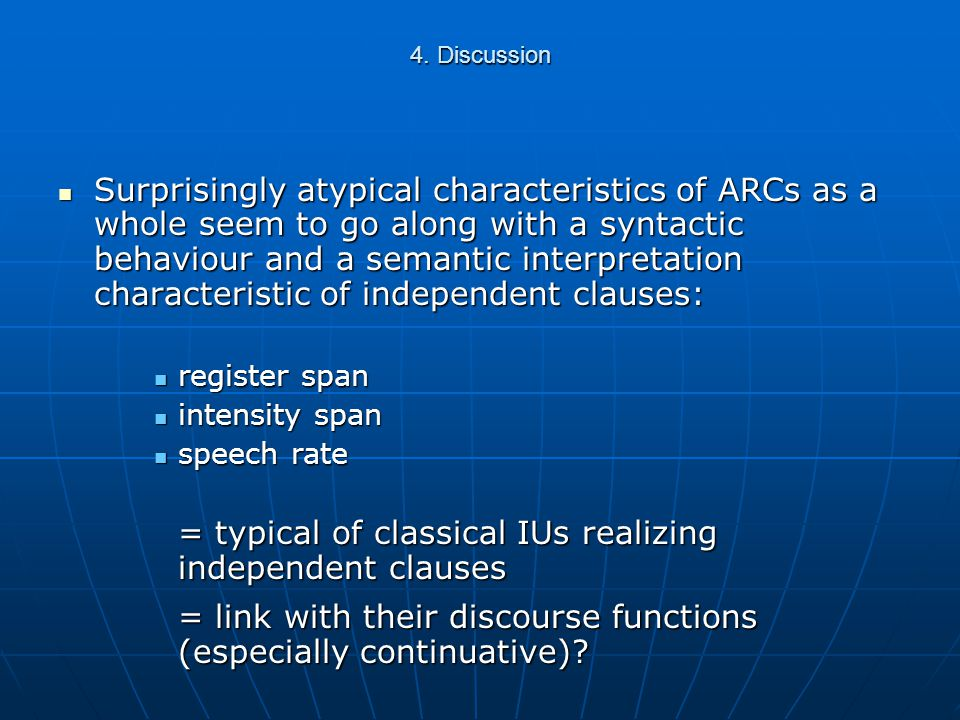 3. Results | Differences between types of ARCs Speech rate: Speech rate: Relevance: -0.178Relevance: -0.178 Subjectivity: -0.043Subjectivity: -0.043