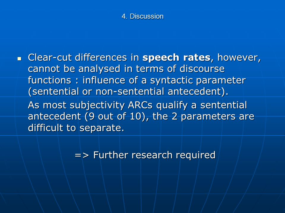 4. Discussion Relevance & Subjectivity ARCs show discourse discontinuity through high onset values.