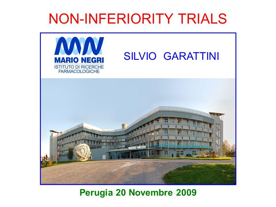 NON-INFERIORITY TRIALS Perugia 20 Novembre 2009 SILVIO GARATTINI