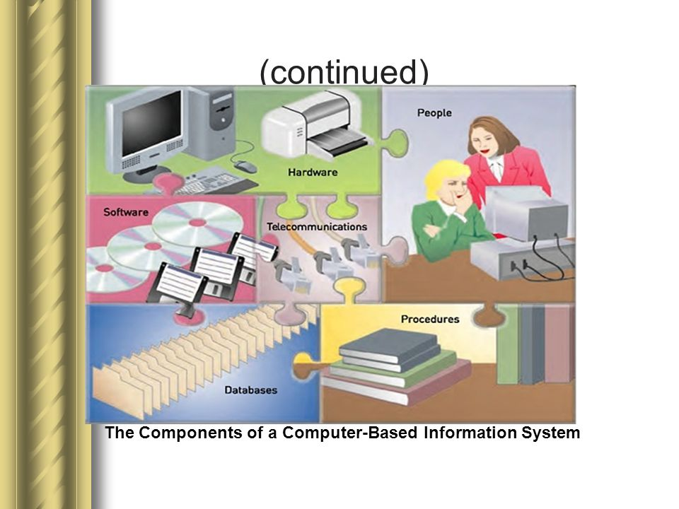 (continued) The Components of a Computer-Based Information System