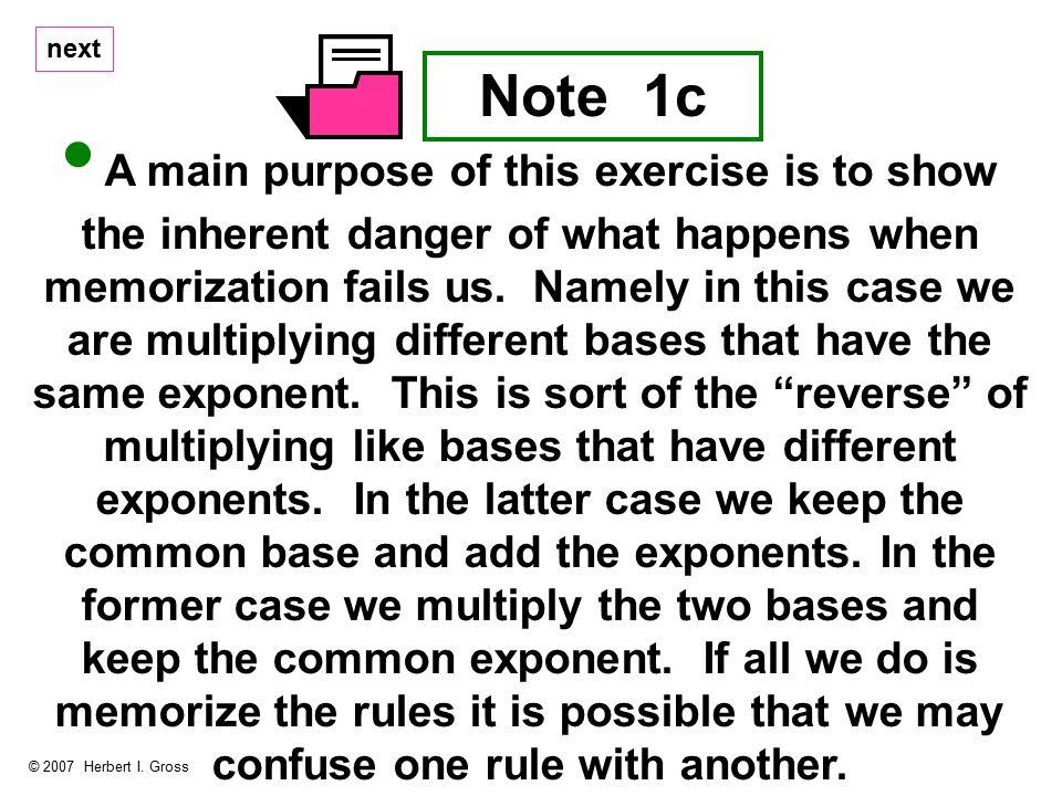 Note 1c © 2007 Herbert I.
