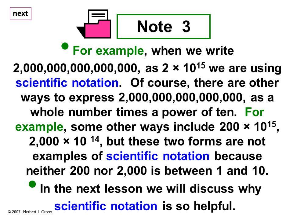 next Note 3 © 2007 Herbert I.