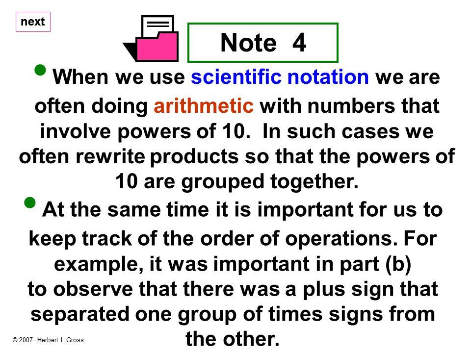 Note 4 © 2007 Herbert I.