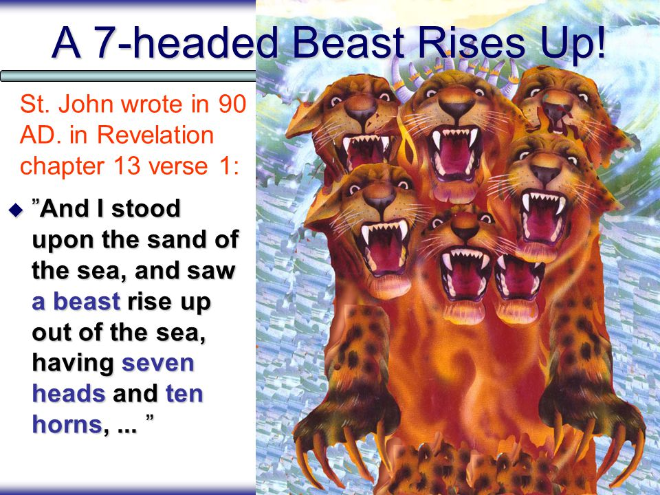 Topics  A beastly One World Government rises up.  The 'Dragon' or Satan gives it its power.