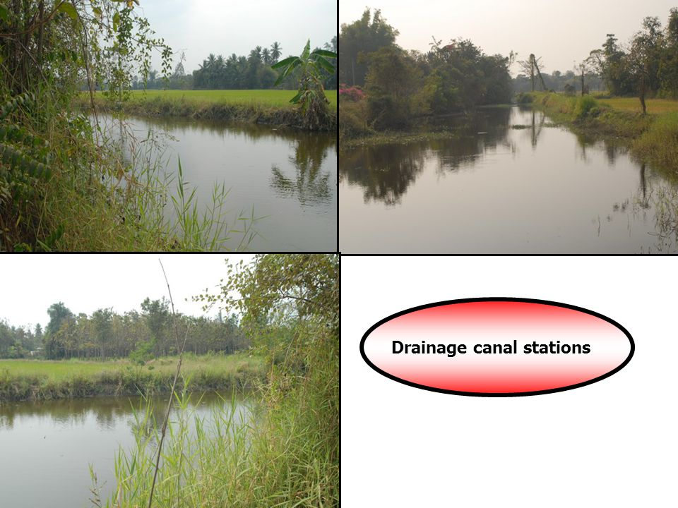 Drainage canal stations