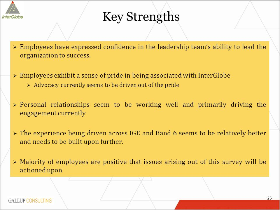 Key Strengths  Employees have expressed confidence in the leadership team's ability to lead the organization to success.