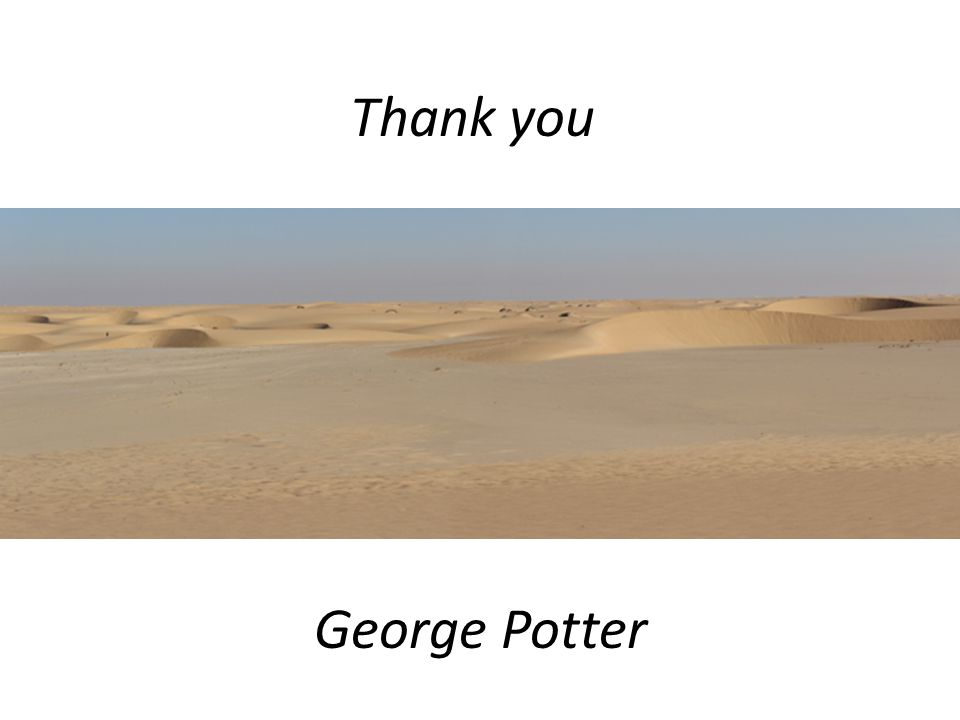 Thank you George Potter