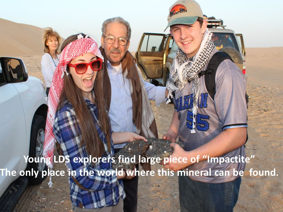 Young LDS explorers find large piece of Impactite The only place in the world where this mineral can be found.