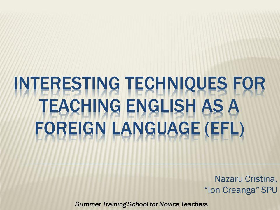 Nazaru Cristina, Ion Creanga SPU Summer Training School for Novice Teachers