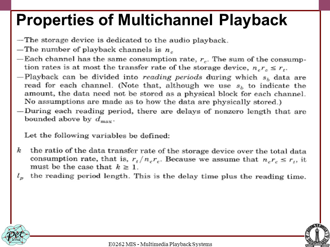 Properties of Multichannel Playback