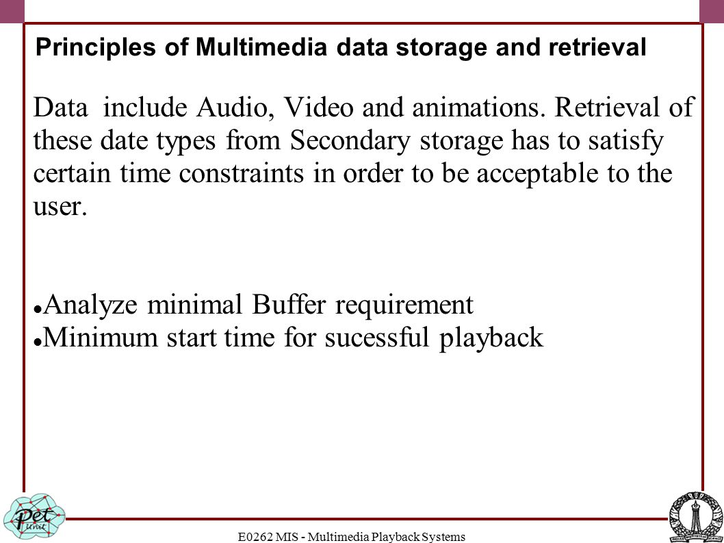 E0262 MIS - Multimedia Playback Systems Read Function
