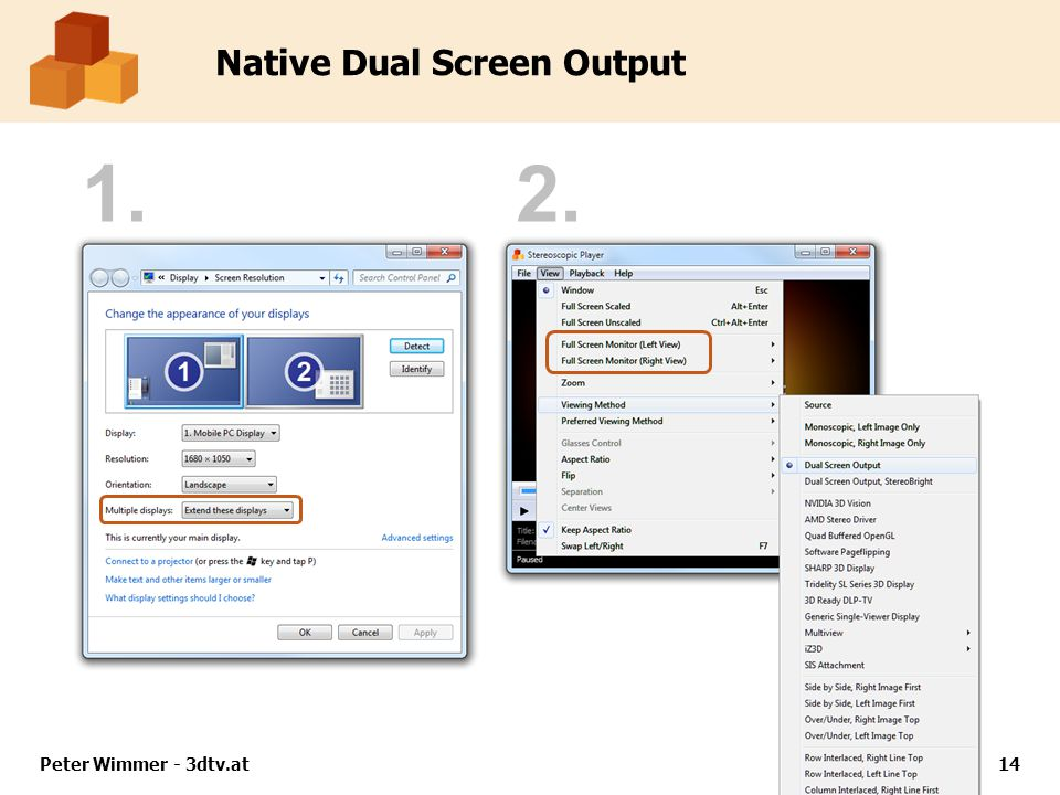 Peter Wimmer - 3dtv.at14 Native Dual Screen Output 1.2.