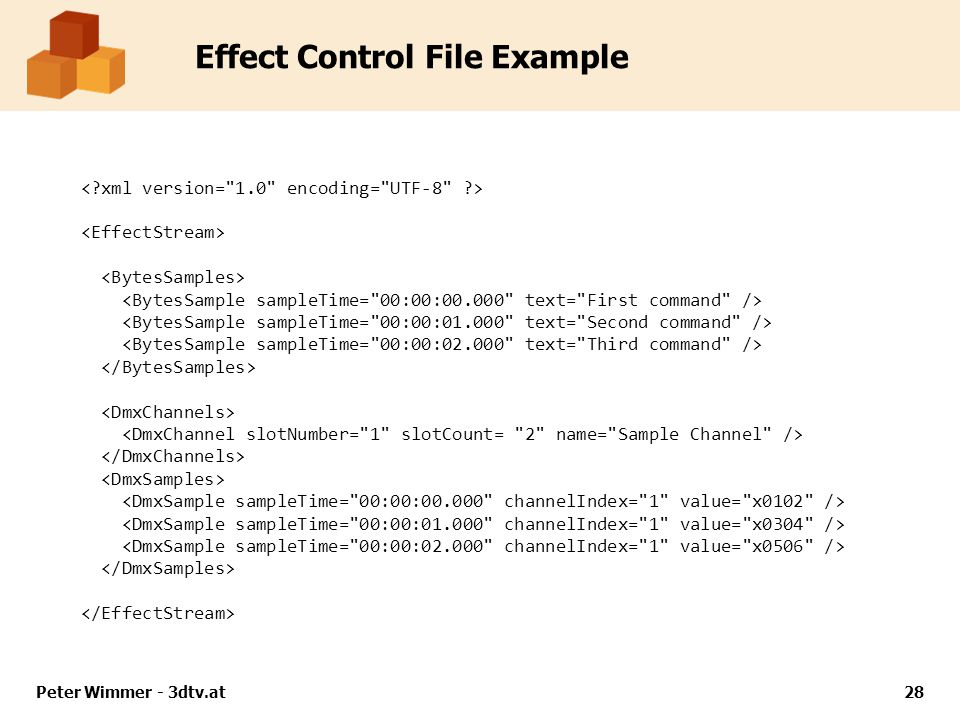 Effect Control File Example Peter Wimmer - 3dtv.at28