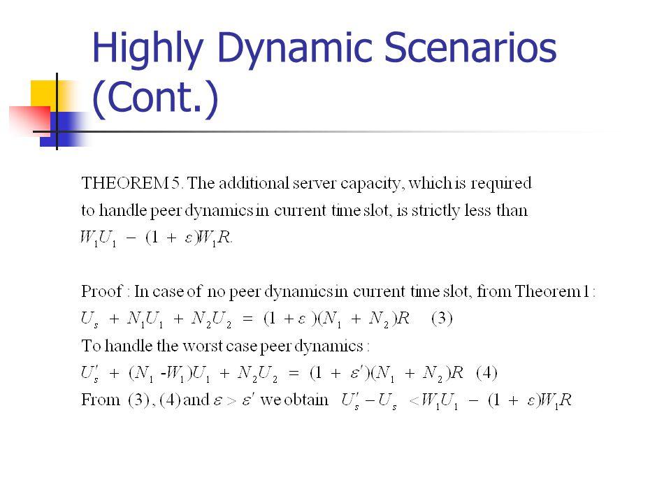 Highly Dynamic Scenarios (Cont.)