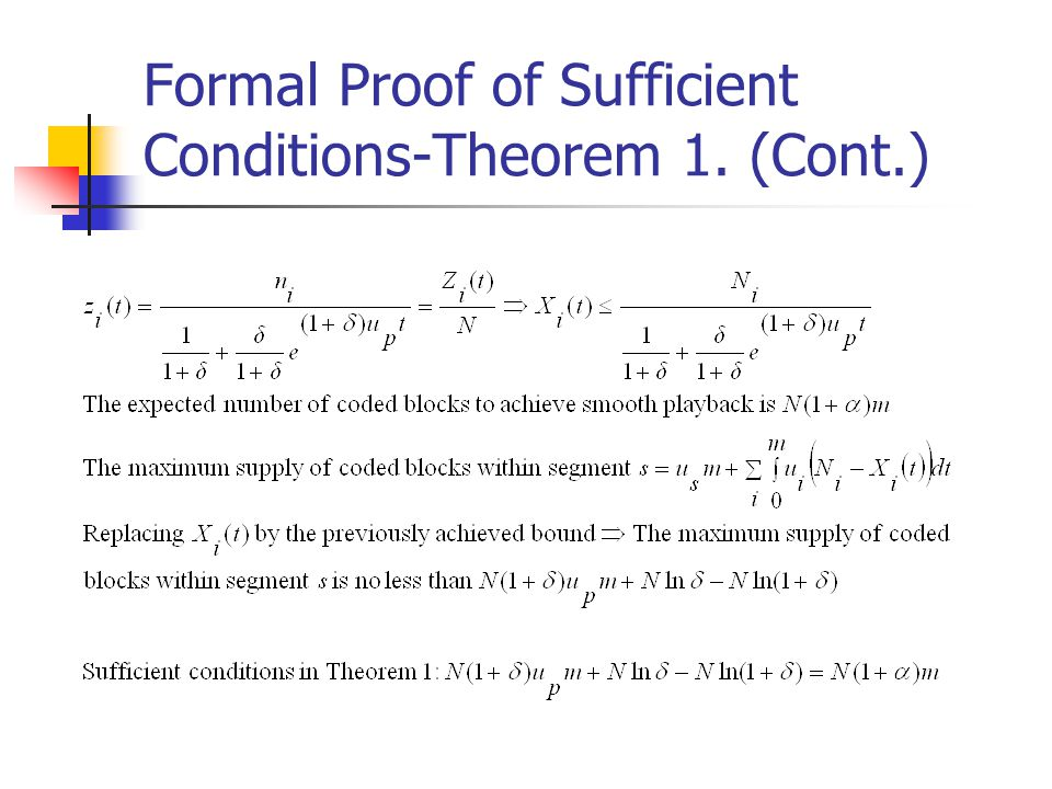 Formal Proof of Sufficient Conditions-Theorem 1. (Cont.)