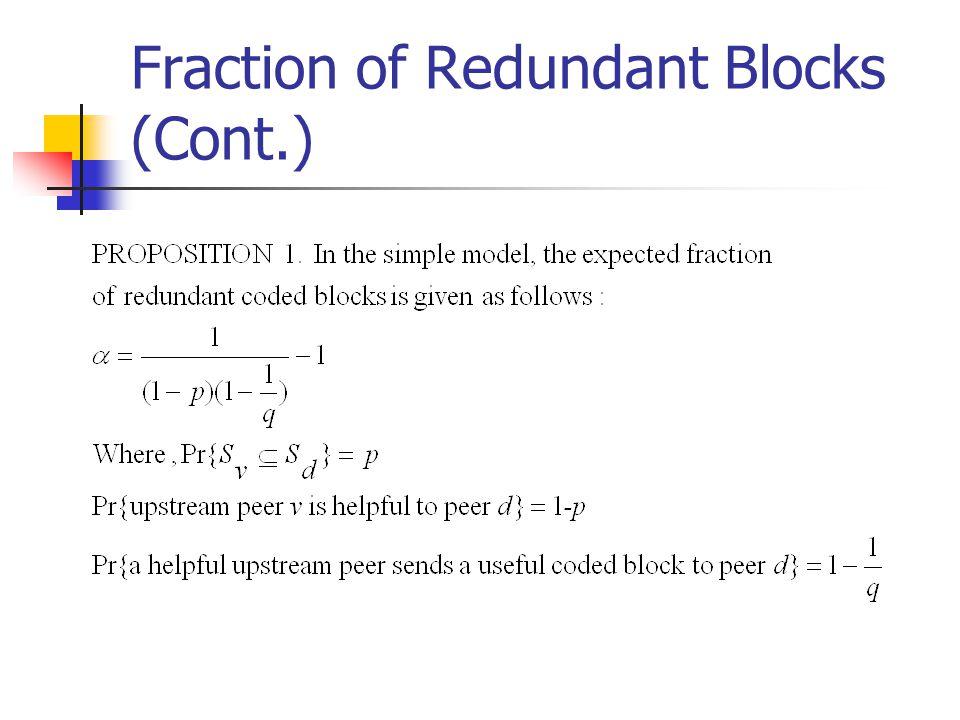 Fraction of Redundant Blocks (Cont.)