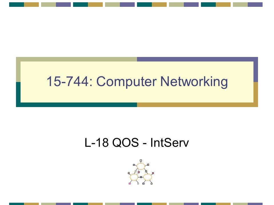15-744: Computer Networking L-18 QOS - IntServ