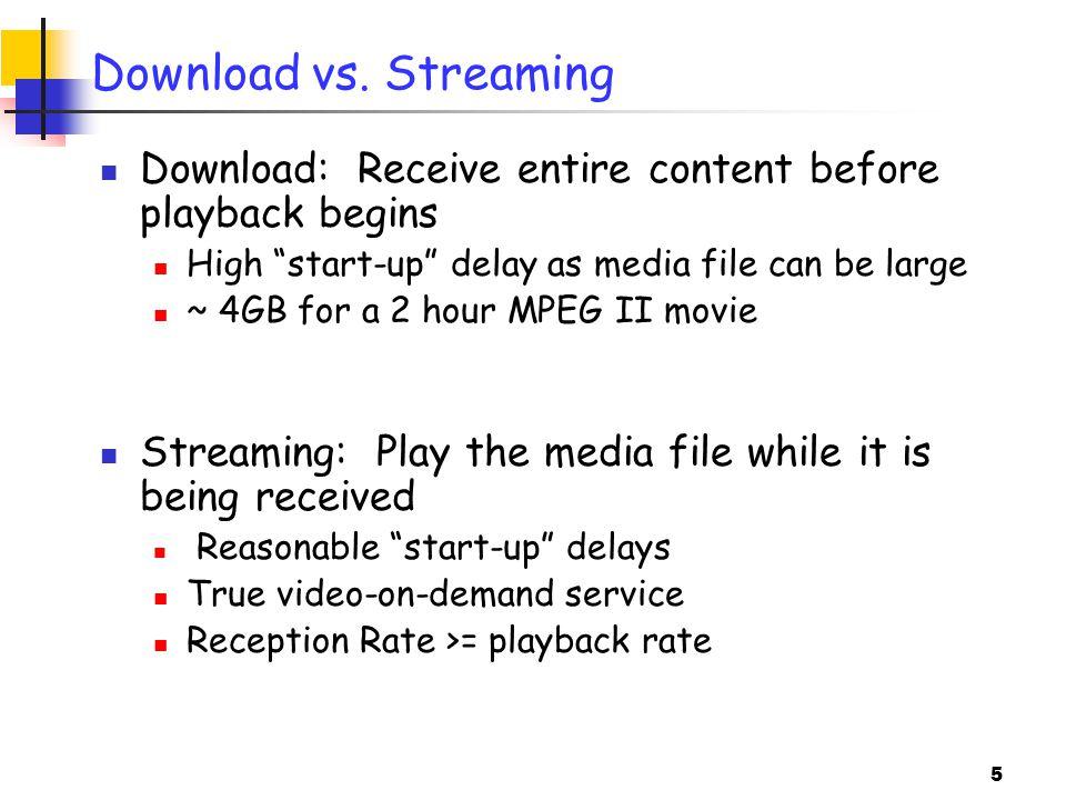 5 Download vs.