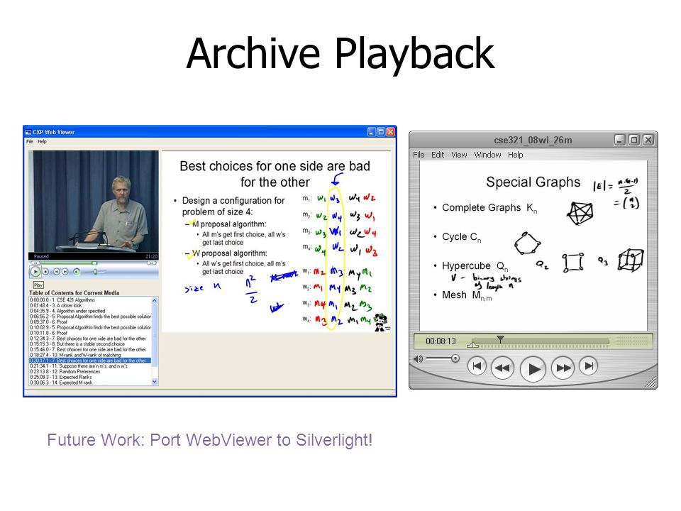 Archive Playback Future Work: Port WebViewer to Silverlight!