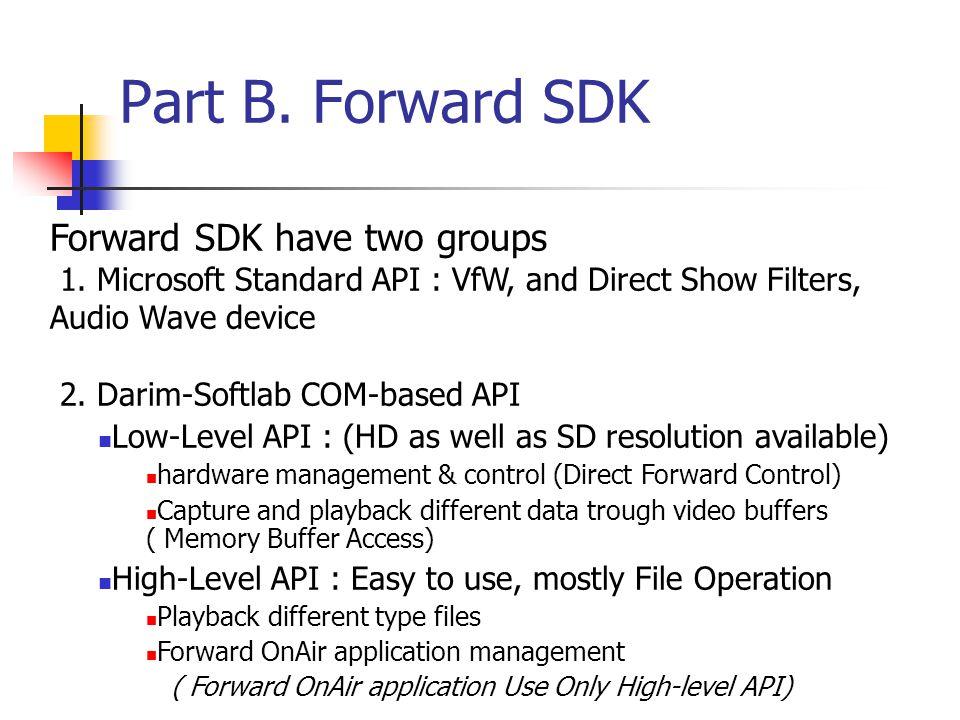 Part B. Forward SDK Forward SDK have two groups 1.